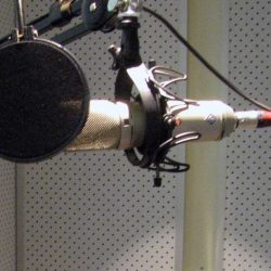 Neumann Microphone in Booth